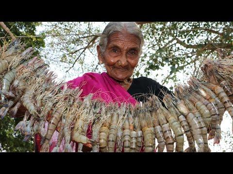 My 105 Years Grandma's Prawns Recipe | Prawns Curry | Country Foods