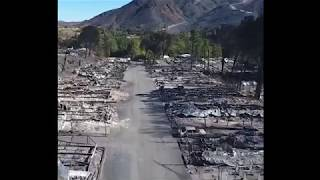 Breaking California Wildfires homes destroyed YET lots of Green vegetation Raw Footage 11/15/18