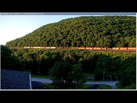 World Famous Horseshoe Curve Cam - Virtual Railfan LIVE