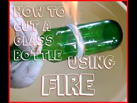 How To Cut Glass Bottle Using String And Fire