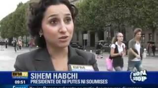 Sihem Habchi Harki Arabe - Présidente de Ni Pute Ni Soumise - Contre le Voile