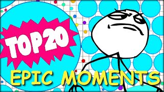 Agario TOP 20 Moments of the Month (Agar.io best Moves)