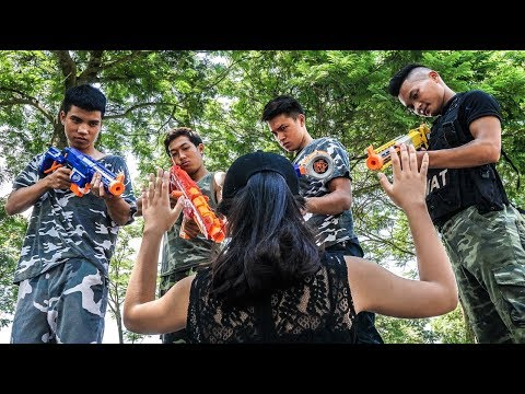 Xxx Mp4 Hihahe Nerf War SWAT Special Commando Nerf Guns Crime Group Rescue Sister Nerf Movies 3gp Sex