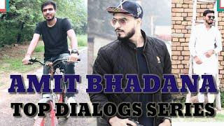 AMIT BHADANA TOP-12 DIALOGS  GAJAB STYLE BEST COMEDY VIDEO, AMIT BHADANA NEW VIDEO IN (HD)