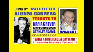What A Difference A Day Made, Wilbert Alonzo Cabrera TRIBUTE to Maria Grever & Stanley Adams