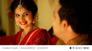 An Epic Engagement Story Of Sujana And Visakh