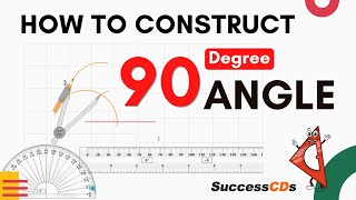 How to draw angles 30 45 60 90 degrees with Compass