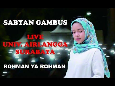 Nissa Sabyan --- Rohman Ya Rohman live Surabaya