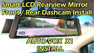 AUTO-VOX X1 Fullscreen LCD Rearview Mirror Dashcam INSTALL