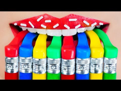 How to Sneak Candy in Class School Pranks and 15 DIY Edible School Supplies
