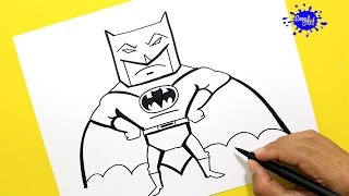 How to draw Batman (Batman vs superman) / Como dibujar a Batman paso a