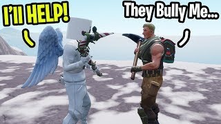 "I met a fan that gets Bullied by his ""Friends"" on Fortnite... (I helped him)"