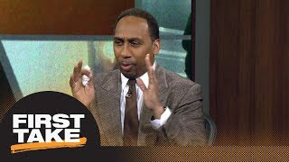 Stephen A. Smith can't contain NBA playoff excitement after Joel Embiid's return | First Take | ESPN
