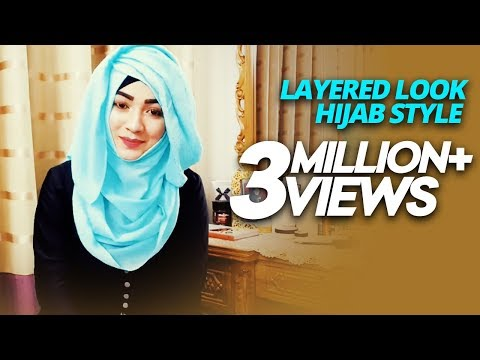 Most Requested Tutorial easy Layered look Hijab Style with saree Kamij | Pari ZaaD 💙