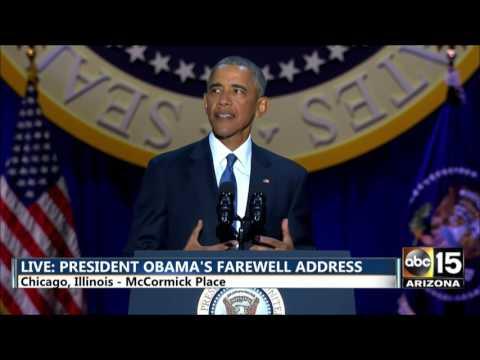 FULL President Barack Obama s Farewell Address in Chicago