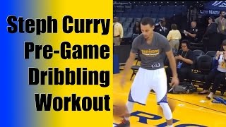 Stephen Curry Pregame Dribbling Workout - Ball Handling Drills - Ankle Breaking Handles