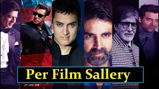 Top 10 Bollywood Actors Salary | Actress Income Per Film | Highest Paid Bollywood Actors