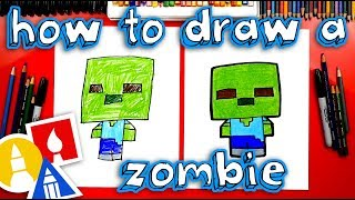 How To Draw Minecraft Zombie Cartoon