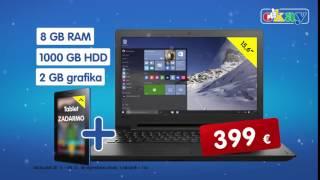 Notebook a tablet + Veľké biele elektro a TV zľava vo výške DPH