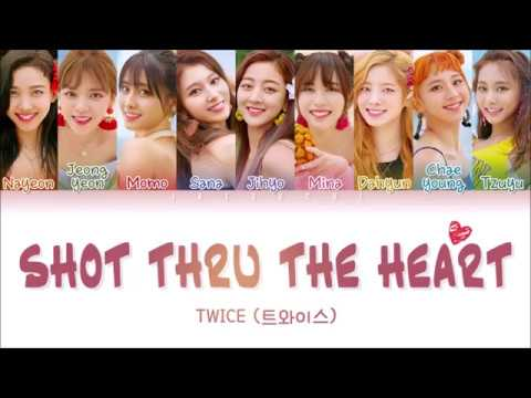 TWICE (트와이스) - SHOT THRU THE HEART (Color Coded Lyrics EngRomHan가사)