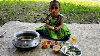Baby Picnic - 3 Years Old Sneyha Cooking Pulses Hodgepodge For 3 5 Years Village Children