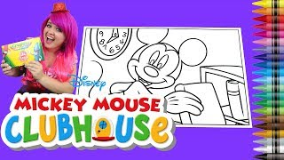 Coloring Disney Mickey Mouse Clubhouse GIANT Coloring Book Page Crayola Crayons | KiMMi THE CLOWN