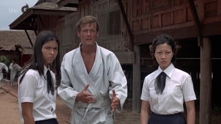 Roger Moore, karate clip from Bond film The Man with the Golden Gun