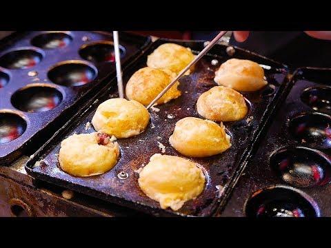 Xxx Mp4 Japanese Street Food NINJA TAKOYAKI Black Octopus Balls Osaka Japan 3gp Sex