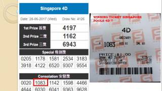Singapore 4D results prediction forecast Wins prize in Singapore pools 4D from Uncle Kumar