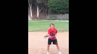 Zander lacrosse shooting practice