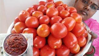 Homemade Tomato Thokku (Pickle) Recipe || Side dish for Idly /Dosa / Chapathi