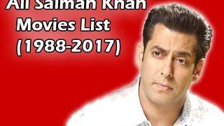Salman Khan Movies list (1988-2017)