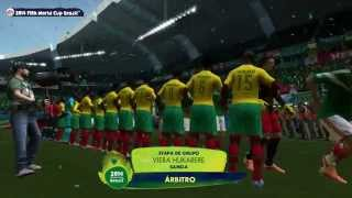 2014 FIFA World Cup Brazil - Simulación del partido México vs Camerún