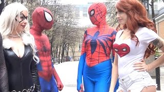 SPIDER-MAN: Spider-Verse Civil War! Real Life Superhero Movie - TheSeanWardShow