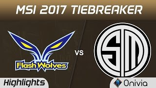 FW vs TSM Highlights MSI 2017 Group Flash Wolves vs Team Solo Mid by Onivia