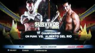 WWE '12 - Survivor Series 2011 CM Punk Vs. Alberto Del Rio