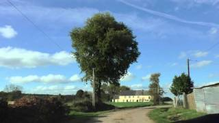 Driving Around Bodegat, 56490 Mohon, Morbihan, Brittany, France 10th November 2015