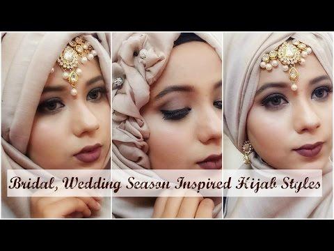 Bridal/Wedding Hijab Style (accessory)India/Bangladesh/Pakistan in Collab with MakeupByAzmeree