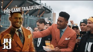 JuJu Tailgates Before Playing the Patriots!