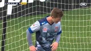 Incredible Miss by Crowley   Newcastle vs Brisbane   A-League 15/16