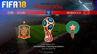 FIFA 18 World Cup - Spain vs. Morocco @ Kaliningrad Stadium (Group B)