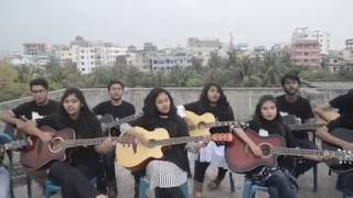 Ahare Jibon | Tribute to Chirkutt | Bafa Guitar Students| Doob Movie