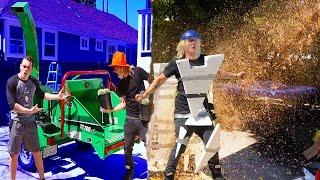 HUMAN VS WOOD CHIPPER! (HORRIBLE ENDING)