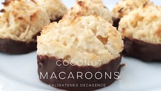 BEST Coconut Macaroons (vegan) | THE SIMPLE GREEN