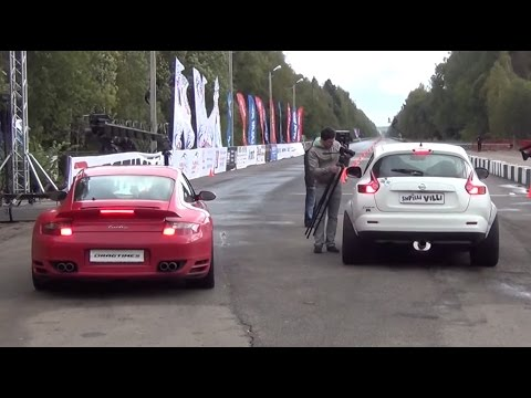 700 HP Nissan Juke R vs. 900 HP Porsche 911 Turbo. Unlim 500