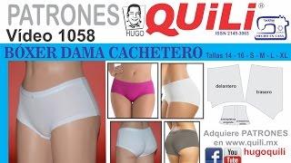 1058 Panty BÓXER cachetero dama. CURSO DE ROPA INTIMA