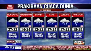 Prakiraan Cuaca Dunia Senin 29 Juli 2013
