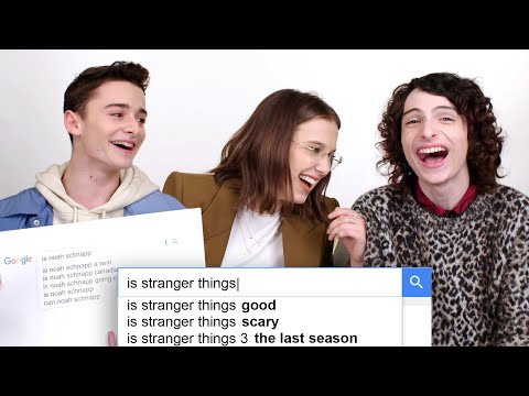 Millie Bobby Brown Finn Wolfhard & Noah Schnapp Answer the Web s Most Searched Questions WIRED