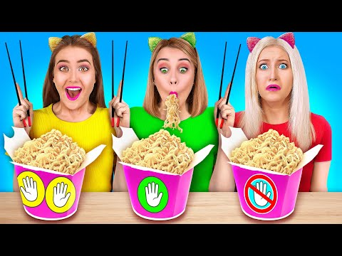 NO HANDS VS ONE HAND VS TWO HANDS Crazy Food Challenges and Funny Situations by 123 GO GENIUS