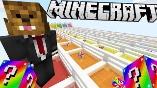 Minecraft RAINBOW LUCKY BLOCK RACE! | (Minecraft Modded Minigame)